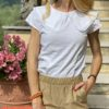 T-shirt colletto Susymix bianca