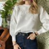 Pull con margherite ricamate Susymix